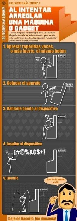 Si quieres arreglar un gadget no hagas esto #infografia #infographic#humor | Educación a Distancia y TIC | Scoop.it