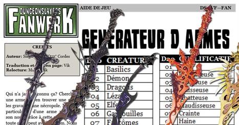 Des armes de légende pour vos personnages pour DungeonSlayers VF | Jeux de Rôle | Scoop.it