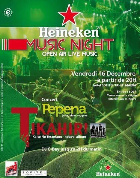 PEPENA et TIKAHIRI en concert au SOFITEL - MUSIC NIGHT Open Air Live Music | TAHITI Le Mag | Scoop.it