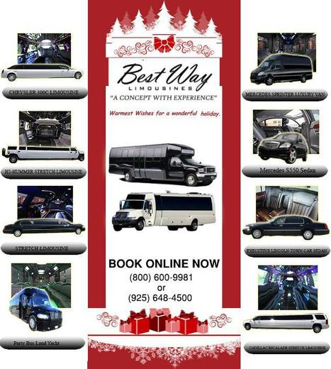 Best Way Limos: Fleet for Holiday Light Tour at affordable cost | Bay Area Limousine Services | Scoop.it