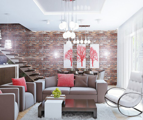 Cozy Home Space with Brick Wall, Unique Furniture and Pendant Lighting | Simple Decorating Ideas For Home | Scoop.it