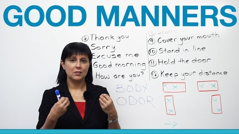 Good Manners: What to Say and Do (Polite English) | Video English | Scoop.it