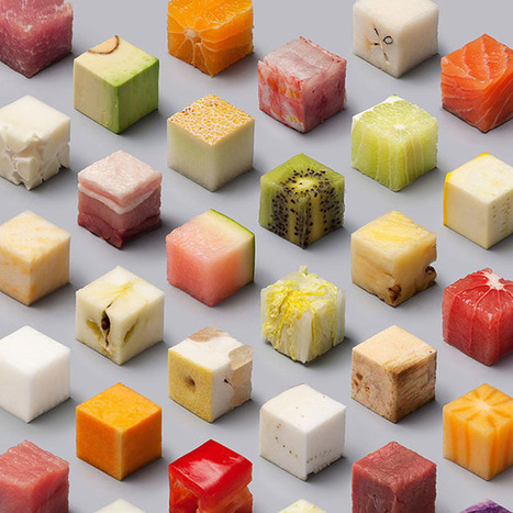 This is a Real Photo of Food Cut Into Perfect Cubes   xposing world of Photography & Design   Scoop.it