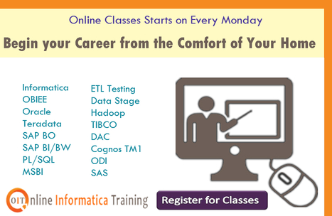 Online Training Sessions for all IT Courses | Build your bright career with online training by online informatica training institute | Scoop.it