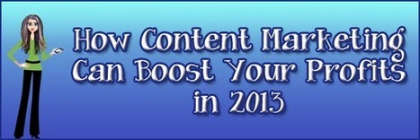 How Content Marketing Can Boost Your Profits in 2013 | B-Gina™ TechNews Report  - up and about | Scoop.it