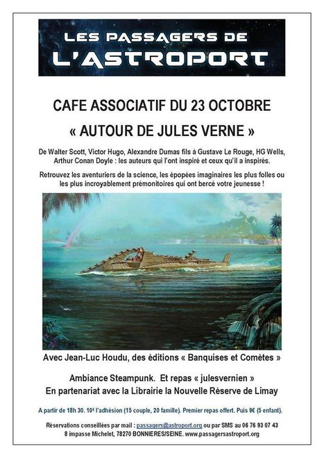 Bonnières-sur-Seine : Jules Verne invité d'un soir au café associatif | Jules Verne News | Scoop.it