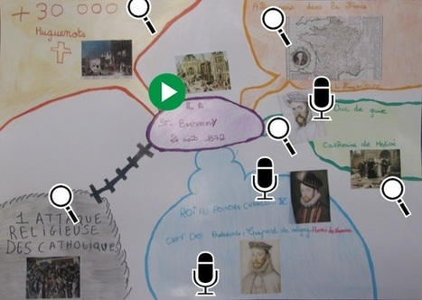 """Académie Orléans-Tours. Séance d'histoire """"La Saint-Barthélémy"""" avec production d'une carte interactive numérique, Ecole de Druye 37   Éducation et nouvelles technologies   Scoop.it"""