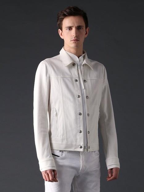 La mode des vestes en jean blanches | Le blog mode de l'homme urbain | Scoop.it