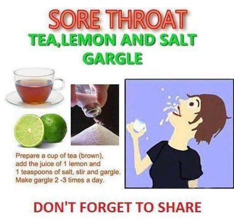 Sore Throat Tea, Lemon and Salt Gargle | Food and Drink | Scoop.it