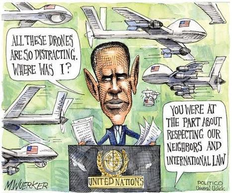 Obamaworld #cartoon #obama #drones #usa | News in english | Scoop.it