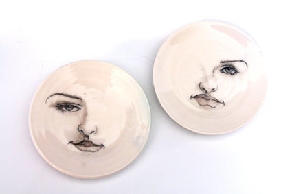 Girl Face Plates in fine Porcelain ring dish by tjCervantesArt | Good stuff to get | Scoop.it
