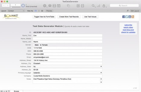 Test Data Generator | All things Filemaker  Go | Scoop.it