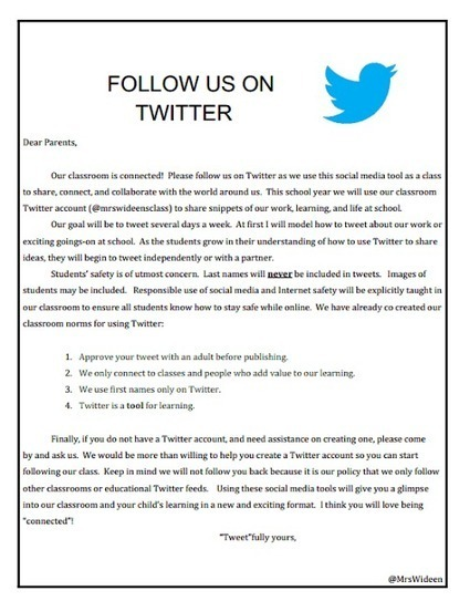 Resources To Help You Start Your Own Class Twitter Account ~ Mrs. Wideen's Blog | iPads in Education | Scoop.it