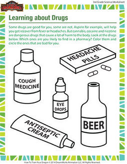 Learning about Drugs – Grade 3 Science Printables Free – School of Dragons | Educational Resources for Kids | Scoop.it