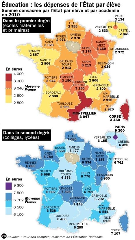 """Education : les dépenses de l'Etat par élève   France   DirectMatin.fr   """"Les Centristes humanistes""""   Scoop.it"""