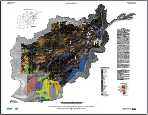 USGS Scientific Investigations Map 3152-B: Surface Materials Map of Afghanistan: Iron-bearing Minerals, and Other Materials | Remote Sensing News | Scoop.it
