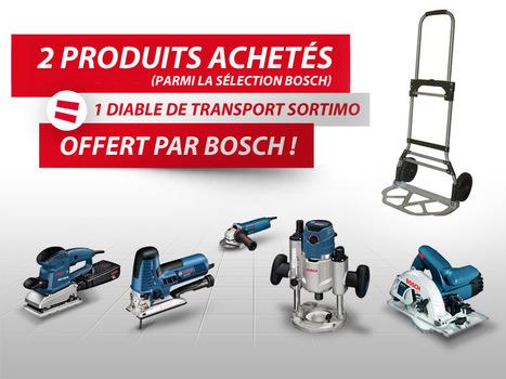 Recevez votre diable de transport pour l'achat de 2 produits de la sélection Bosch | Le monde de l'outillage professionnel | Scoop.it