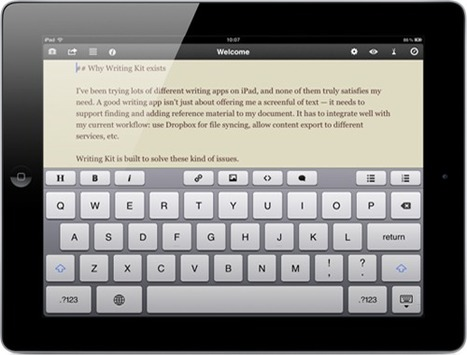 4 iPad Applications For Writers | Edumathingy | Scoop.it