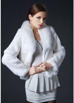 Women's Furs :: Fur Jackets :: Rabbit :: Genuine Full Skin Rex Rabbit Jacket With Fox Fur Shawl Collar - | furs | Scoop.it