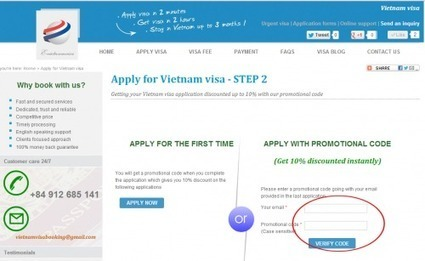 e-vietnamvisa.com offers 10% discount of Vietnam visa to the return customers - Visa for Vietnam, guide book and reviews | Apply for Vietnam visa on arrival at lower cost | Scoop.it