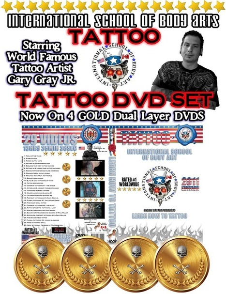 Learn How to Tattoo DVD Course   International School of Body Art   click2sell   Scoop.it