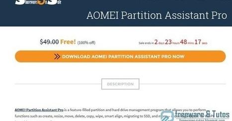 Offre promotionnelle : AOMEI Partition Assistant Pro 6.0 gratuit ! (3 jours) | Freewares | Scoop.it