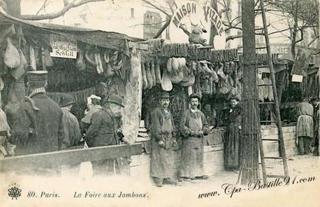 Carte de Paris – éditeur Massias – La Foire aux Jambons en 1900 | Cartes Postales Anciennes | GenealoNet | Scoop.it
