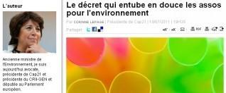 Arrêt sur images - Ecologie : grandes associations favorisées | Corinne LEPAGE | Scoop.it