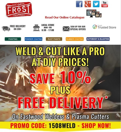 WELD & CUT LIKE A PRO AT DIY PRICES SAVE 10% PLUS FREE DELIVERY On Eastwood Welders & Plasma Cutters | Auto Restoration | Scoop.it