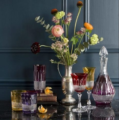 Crystal glassware for fine dining and sophisticated cocktails | Coloured Crystal | Scoop.it
