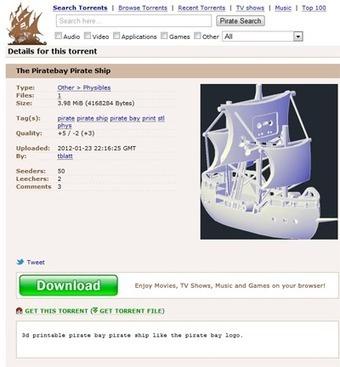 Avec Physibles, The Pirate Bay se lance dans le P2P des objets | TFL'veille techno | Scoop.it