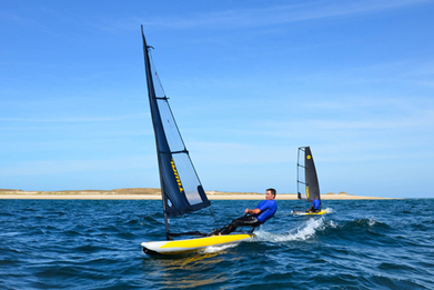 Inflatable sailing dinghy designed like a stealth aircraft   Tiwal , the inflatable sailing dinghy made in France   Scoop.it