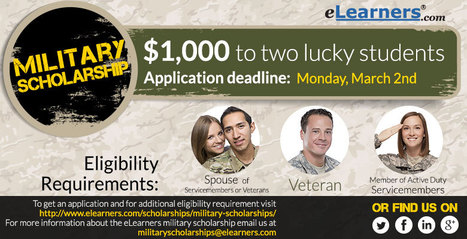 Scholarships for military members! via @eLearners | Education Scholarships | Scoop.it