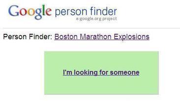 Explosions à Boston: Google met en place un site pour aider les gens à retrouver leurs proches | Etudions Google | Scoop.it