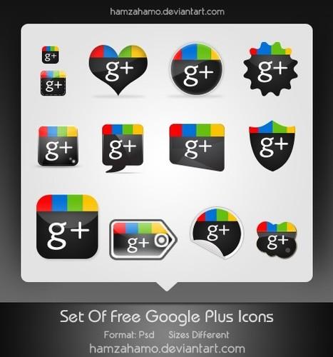 Excelente colección de iconos para Google + | Google+, Pinterest, Facebook, Twitter y mas ;) | Scoop.it