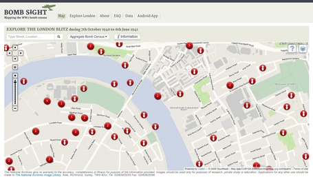 Bomb Sight - Mapping the London Blitz | Emergent Digital Practices | Scoop.it