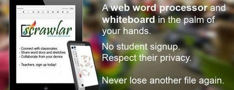 Scrawlar, pizarra online y editor de texto perfecto para educadores | Codigo Geek | MIS HERRAMIENTAS | Scoop.it