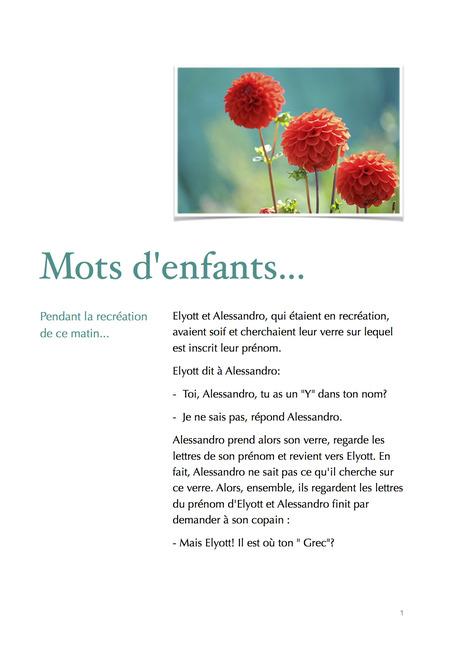 TPS/PS : mots d'enfants | Lycée Français MLF de Palma 2013-2014 | Scoop.it