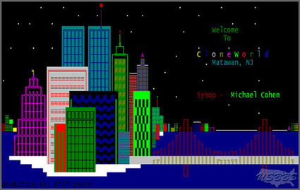 CloneWorld BBS, 1988.&nbsp;<br/><br/>This is the welcome screen for the late... | ASCII Art | Scoop.it