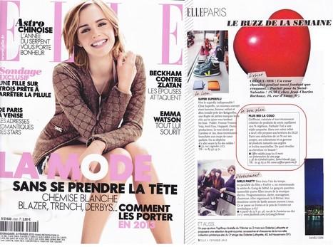 ELLE - N° 3502 - 8 février - Page 2 du Cahier de Paris. | Nathalie TUIL | Scoop.it