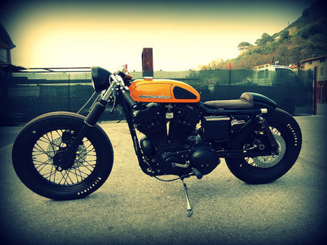 Harley Davidson Sporty 883 Cafe Racer | Custom Cut List | Cafe Racer of Ohio | Scoop.it