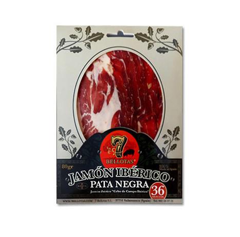 "Iberian Ham (Jamón Ibérico) Spanish ""Pata Negra"" (Jamon) 1 X 80gr.   7Bellotas.com   Pata Negra Хамон Iberico де Bellota ХАМОН   Scoop.it"