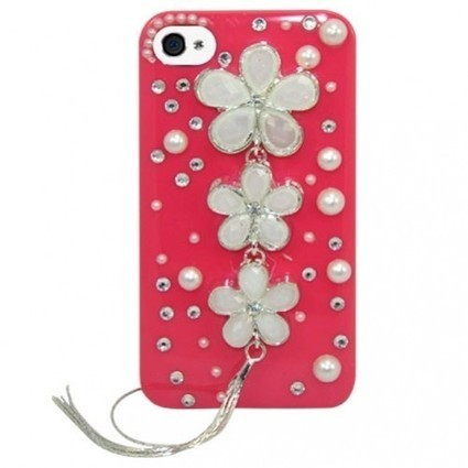#stylish_iphone_4_cases #iphone_4_cases Pink Pearl Floral Case For Apple iphone 4. | Designer Mobile Phone Case Covers 2012 | Scoop.it