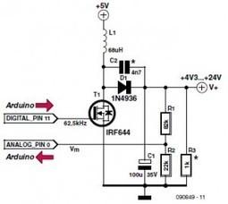 Arduino-Based DIY Voltage Booster (EE Tip #117) | Arduino | Scoop.it
