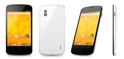 Nexus 4 White officially unveiled | Mobile Technology | Scoop.it