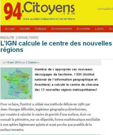 Barycentre des régions de la France | Au hasard | Scoop.it