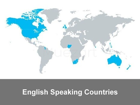 English Speaking Countries - World Maps that show the popularity of the language   Apple Keynote Slides For Sale   Scoop.it
