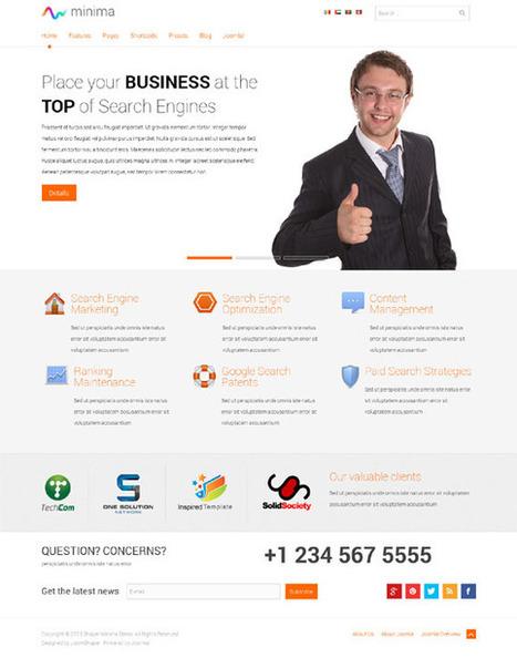 Minima, Joomla Responsive Business Corporate Template | Premium Download | Premium Joomla Templates Download | Scoop.it