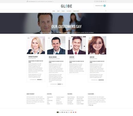 Technology wordpress shop theme – Globe | wordpresstemplates | Scoop.it