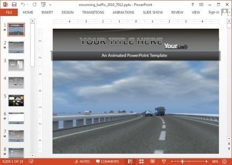 Animated Heavy Traffic PowerPoint Template | PowerPoint presentations and PPT templates | Scoop.it